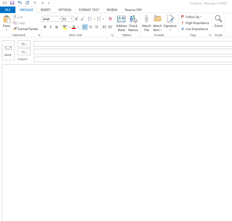 how to set signature for outlook